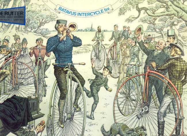 Batavus Intercycle puzzel van 750 stukjes. Clubtocht op 'Bicycles' anno 1885.